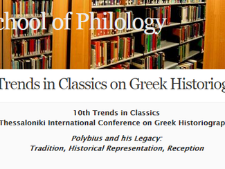 10th Trends in Classics Thessaloniki International Conference on Greek Historiography: Polybius and
