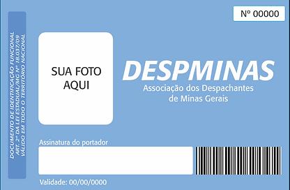 Frente do modelo de documento de identificação funcional