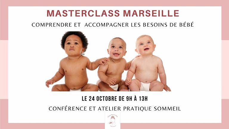 Masterclass Marseille : Comprendre les besoins de bébé et accompagner son sommeil