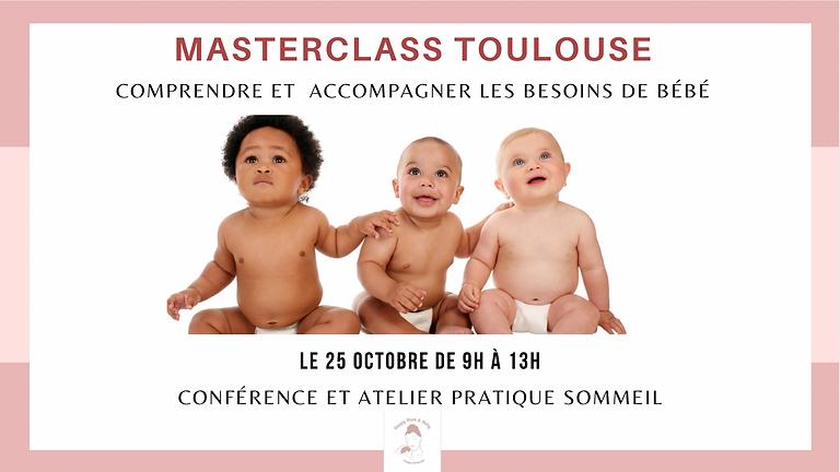 Masterclass Toulouse : Comprendre les besoins de bébé et accompagner son sommeil