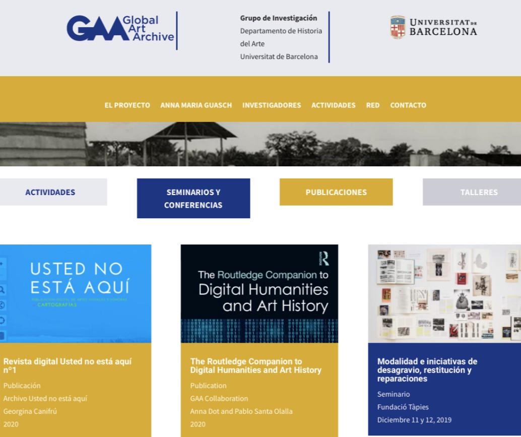 Revista digital del Arvhivo en GAA Global Art Archve