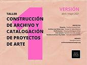 Proyectos Taller Archivo v.1 abril:mayo