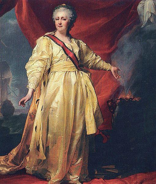 Carica Katarina Velika oko 1770. godine (slika Dmitrija Velickog)