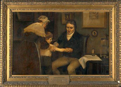 Edvard Džener vakciniše dečaka (slika Ernesta Borda)