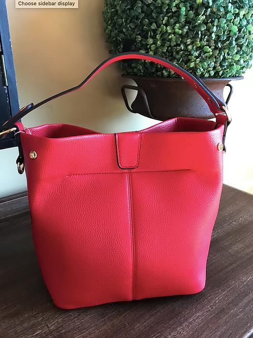 Joy Susan Red convertible hand bag