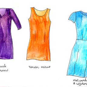 Basispatroon jurk tekenen