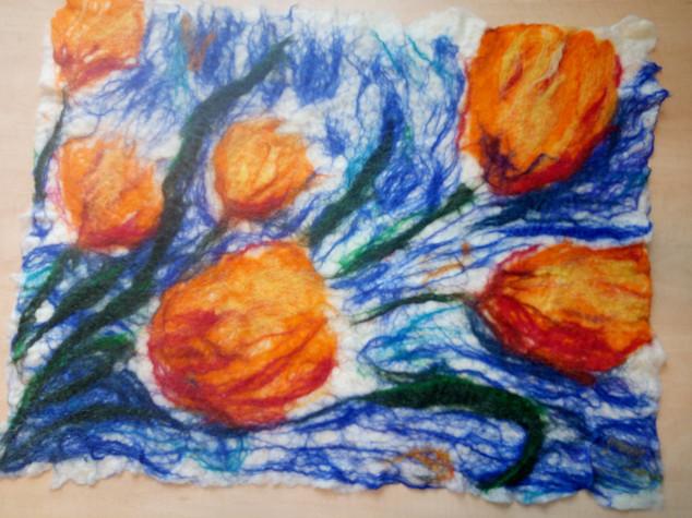 Bos met tulpen