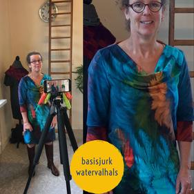 model met watervalhals