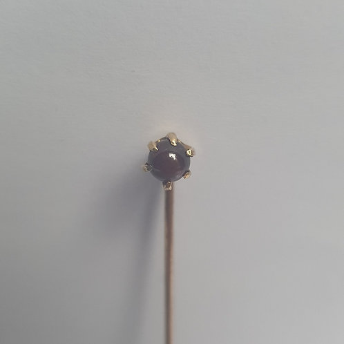 Antique Victorian Metal Garnet Tie Pin