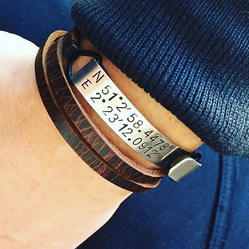 Bracelet Memory, Marron foncé