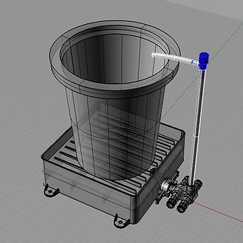 CADでポットベース設計
