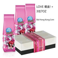 印相M&M巧克力 3包7OZ禮盒裝