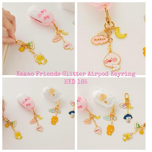Kakao Friends Glitter Airpod Keyring