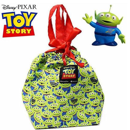 日本 Disney 迪士尼 滿版 三眼怪 束口 保冷袋 保溫袋 便當袋 午餐袋 可手提 手提包