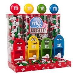印相M&M巧克力 4格M&M機+4包7OZ包