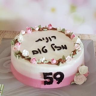 עוגת פרחים רונית