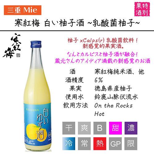 寒紅梅 白い柚子酒~乳酸菌柚子~ 720ml