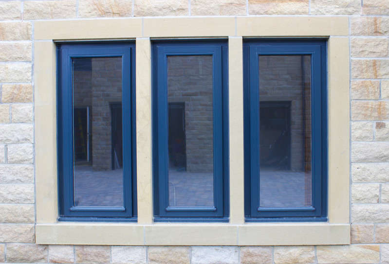 Bank of Three Side Hung Stormproof