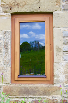 Side Hung Stormproof Window in Stain