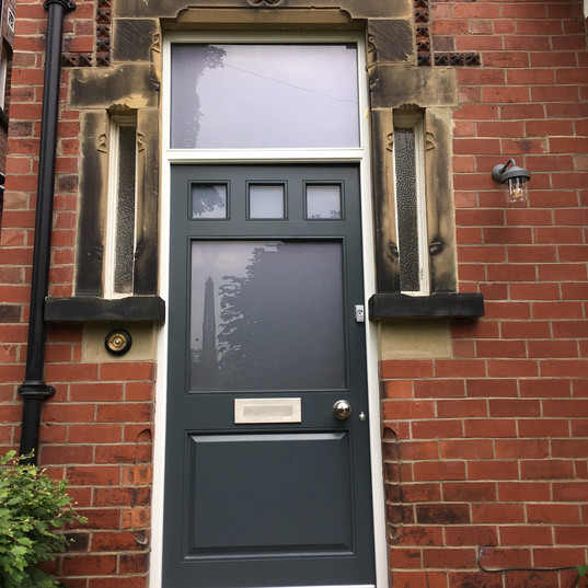 Glazed Door with Lower Timber Panel