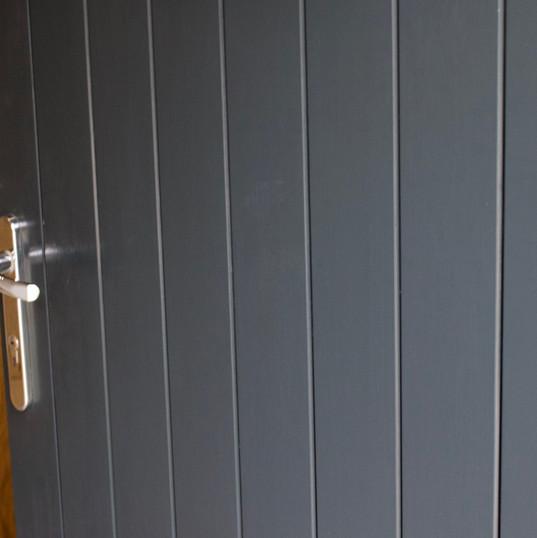 Double Boarded Door Set in RAL 7026