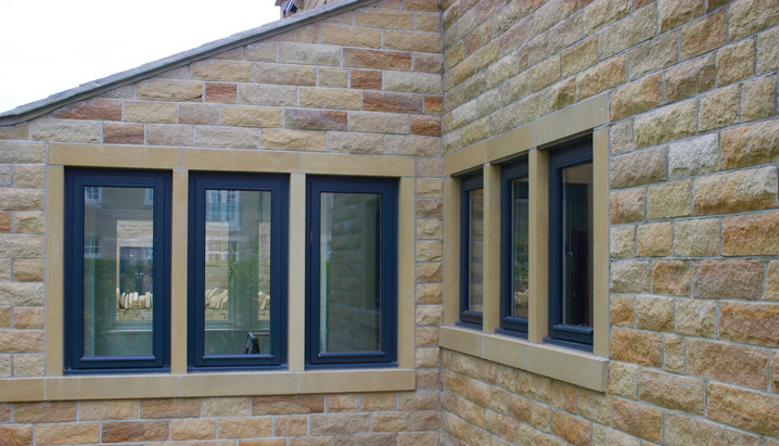 Side Hung Stormproof Window in RAL 7026