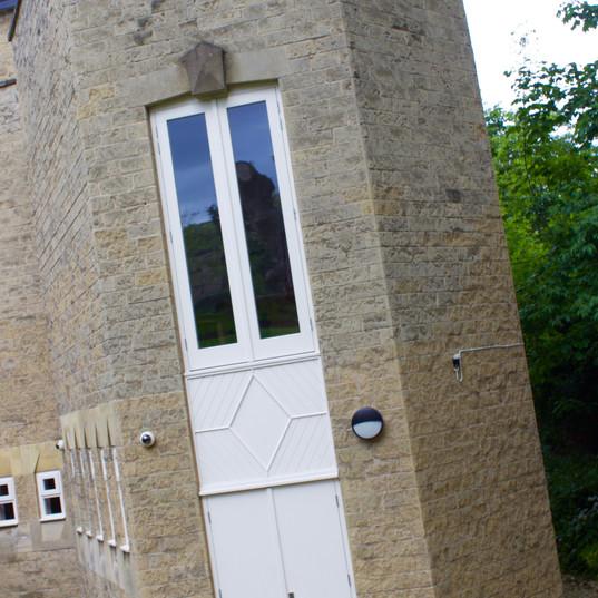 Bespoke Combination Doorset in RAL 9010