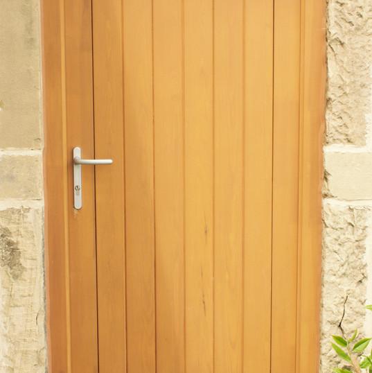 Double Boarded Door in Stain