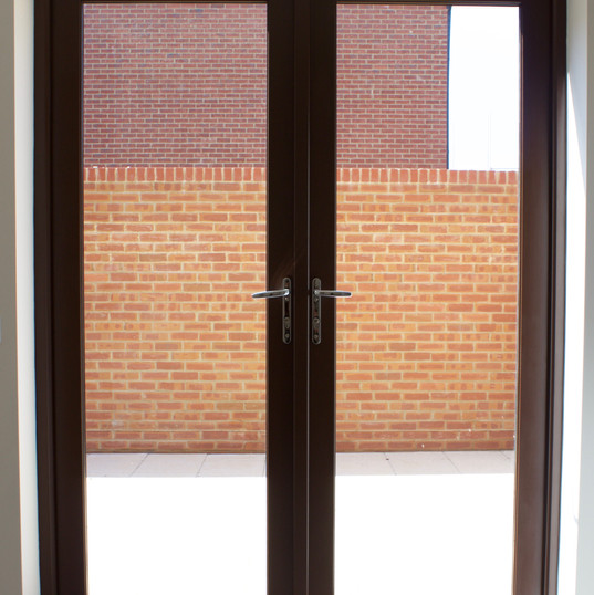 Standard French Door Set in Stain Finish