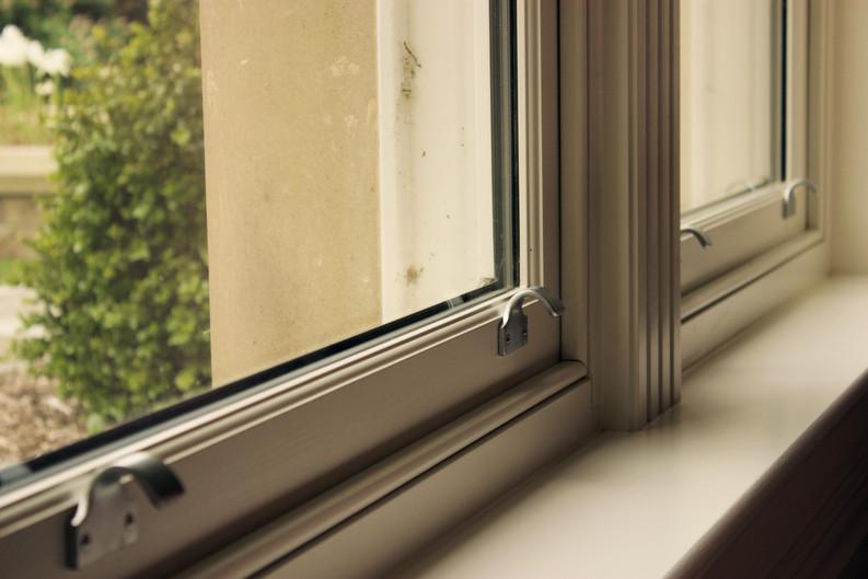 Sliding Sash Window in RAL 9001