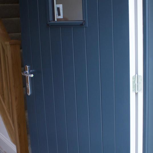 Double Boarded Door in RAL 7026