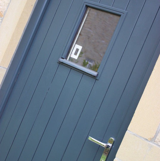 Double Boarded Door with Vision Panel