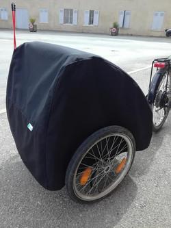 Housse remorque vélo
