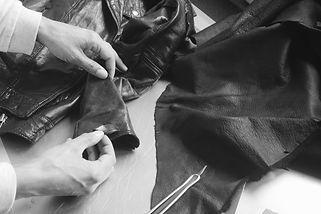 Réparation bloson vest cuir moto