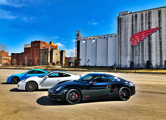 Porsche 991 and 981 in Red Wing, MN