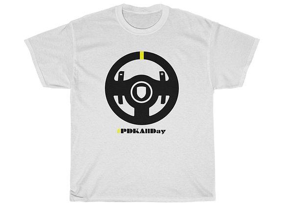 AutoAmateur 'PDK All Day / Yellow Notch' T-Shirt (Design on front)
