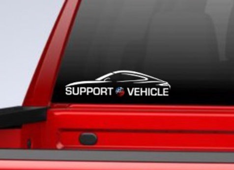 "NEW 'Support Vehicle' 6"" Window Decal / Stickers with AutoAmateur Logo"
