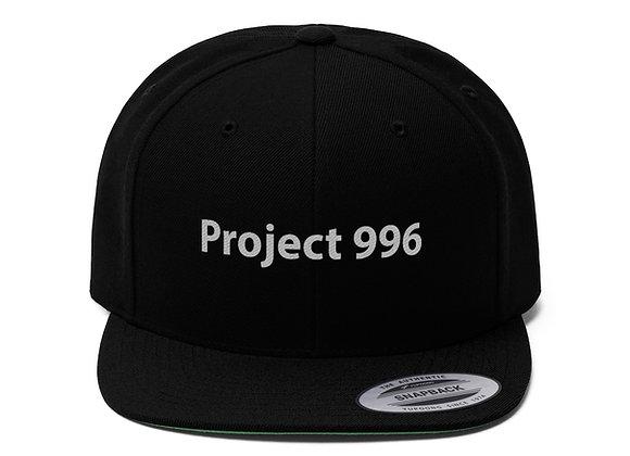 'Project 996' Unisex Flat Bill Cap