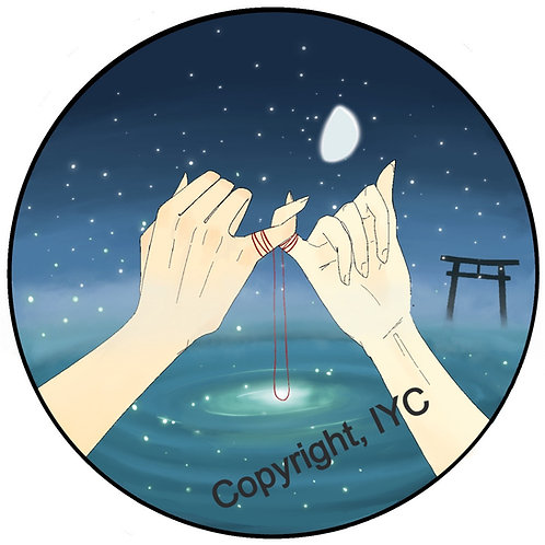 Red String of Fate Sticker