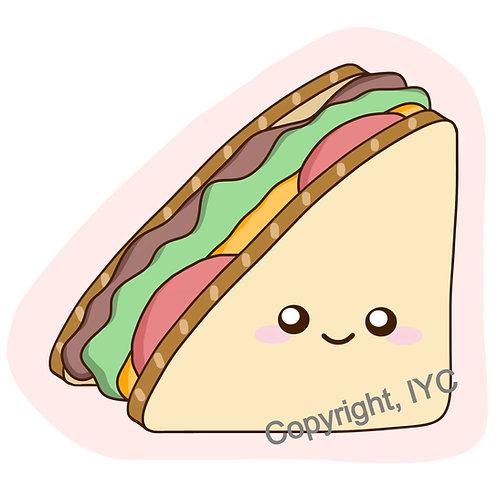 Cute Sandwich Sticker