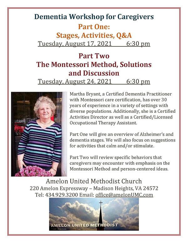 Dementia Worship for Caregivers, August 17 & 24, 2021.jpg