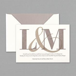 vera wang oyster white letterpress - Vera Wang Wedding Invitations