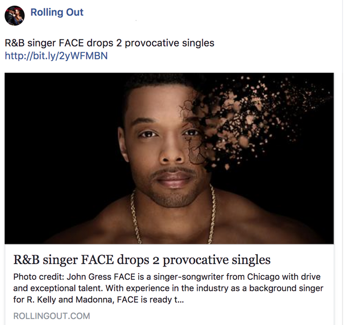 R&B singer FACE drops 2 provocative singles