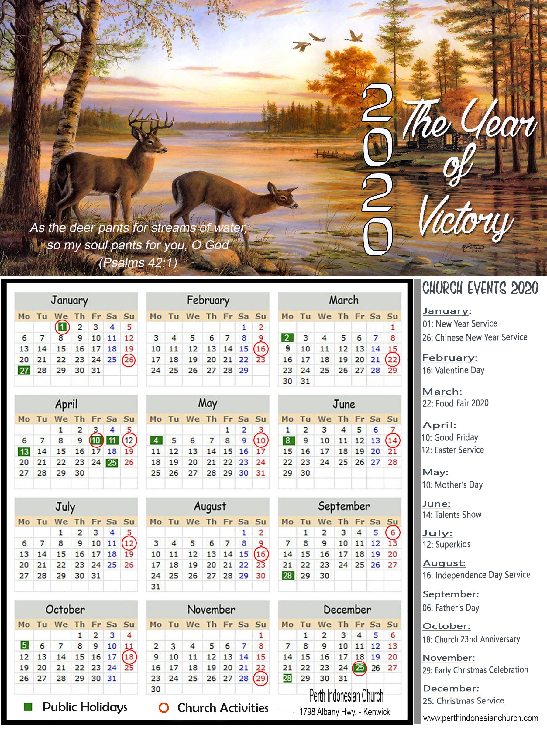 Calendar 2020 (6X8)