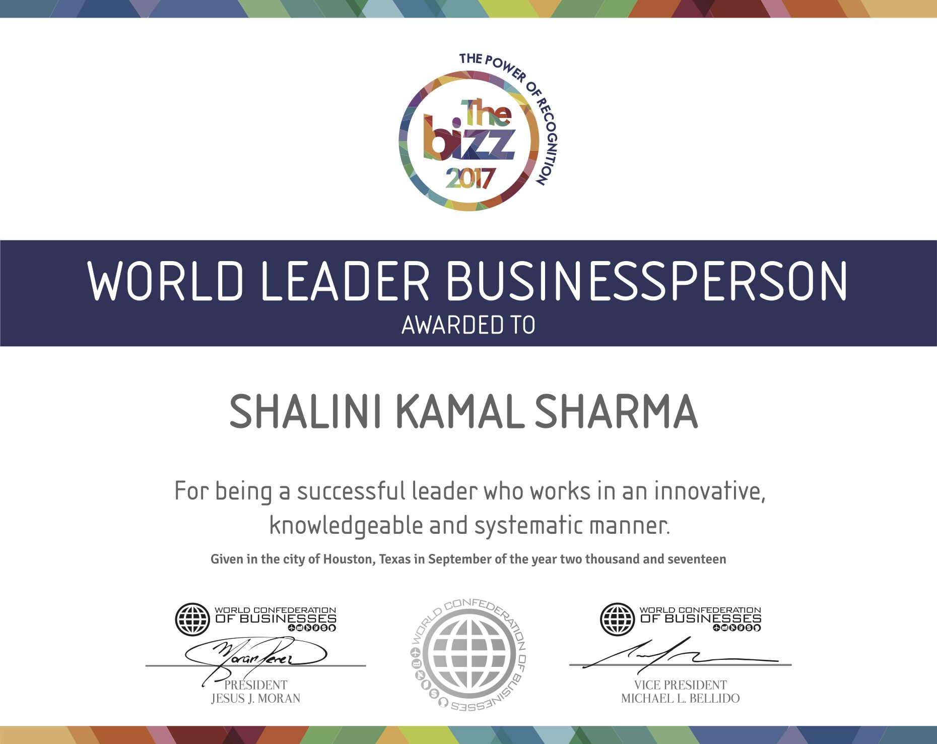 WORLD BUSINESSPERSON