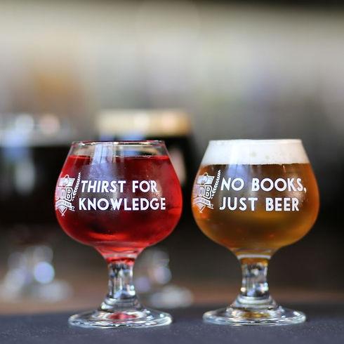Beer flights in a goblet
