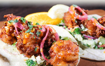 Beer-Battered Prawn Taco