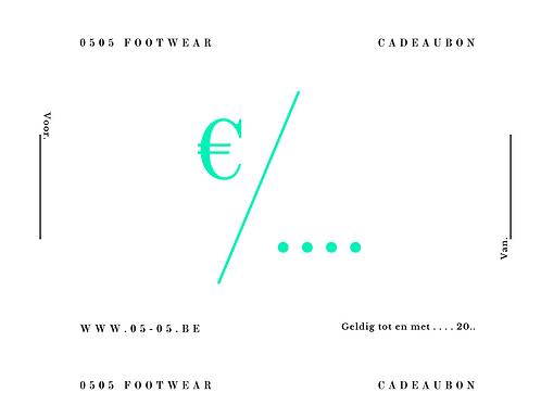 Gift card €25 - €300
