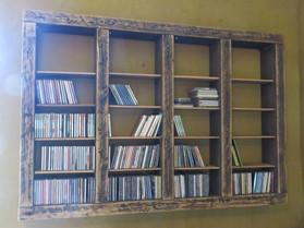 Robuust cd-rek in oude green