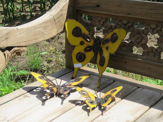 set van 3 vlinders